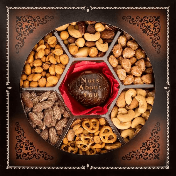 Engraved Nut Gift Basket (Nuts About You)